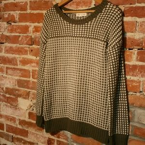 Olive & Oak for Stitch Fix Checkered Knit Pullover